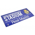PLAQUE DE RUE REAL MADRID