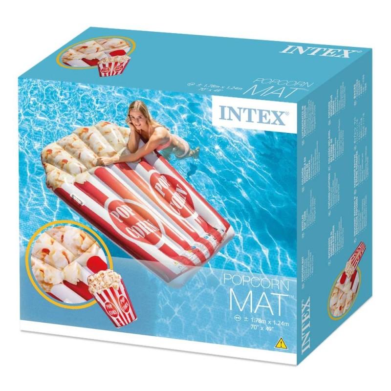 MATELAS GONFLABLE POP CORN INTEX 178 cm x 124 cm