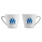 SET 3 TASSES A CAFE OLYMPIQUE DE MARSEILLE
