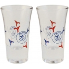 SET 2 VERRES A LIQUEUR PARIS SAINT GERMAIN
