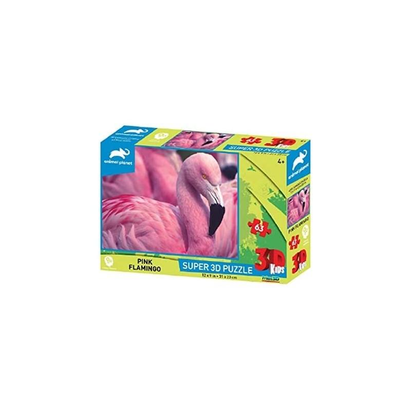 PUZZLE FLAMANT ROSE 3D